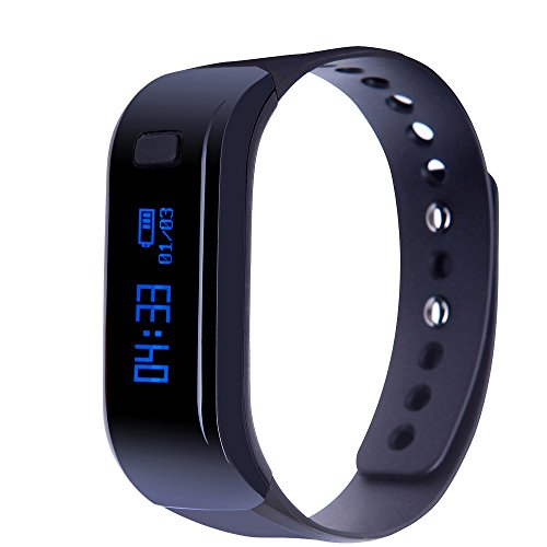 InnKoo Waterproof Fitness Tracker Watch, U1 Activity Tracker Pedometer Watch Steps Calories Counter Smart Bracelet Wristband Sports Band Sleep Tracker, for Women Men Kids Seniors (Black) - Fitness Digital Watch