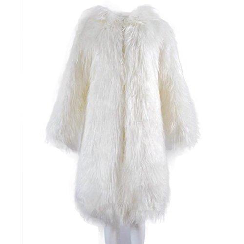 Manka Vesa Women's Long Hooded Faux Fur Parka Jacket Coat Outerwear Overcoat - Long Fur Coat
