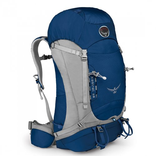 Osprey Packs Kestrel 58 Backpack (Tarn Blue, Small/Medium), Outdoor Stuffs