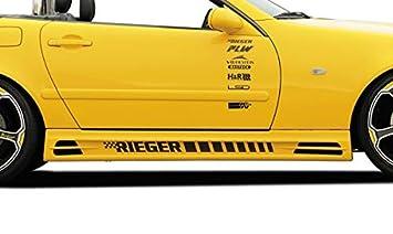 Rieger Potenciador de Lado Negro Mate para Mercedes Benz SLK (R170): 09.96 - 12.00, 01.01 de: Amazon.es: Coche y moto
