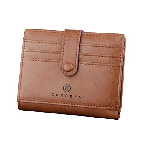 - CCFAMILY Men Wallets Coin Purse Clutch Hasp Retro Short Wallet package multi-card holder