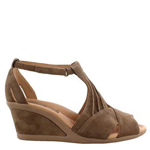 Khaki Earth - Earth Women's, Curvet Wedge Heel Sandals Khaki 6 M