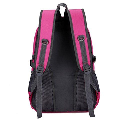Mountaineering Bag 30L Outdoor Männer und Frauen Schulter Rucksack Wanderpackage Bergsteigen Taschen , rose red