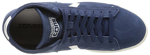 Converse Pro Leather LP MID Suede, Sneaker, Unisex - adulto Dress Blue/Off White