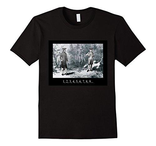 Men's Alexander Hamilton and Aaron Burr Deadly Duel Shirt Medium Black