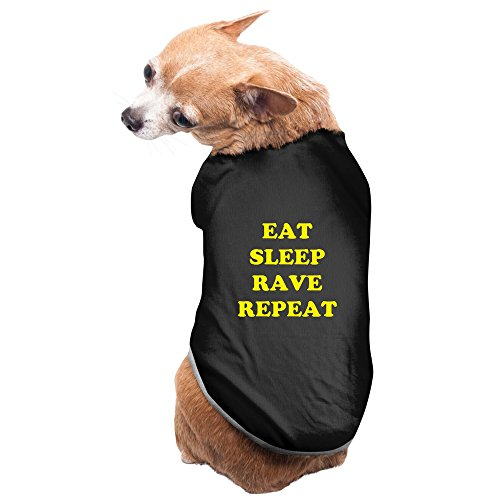 Eat Sleep Rave Repeat Puppy T-shirts Fleece Eat Dog T-shirt