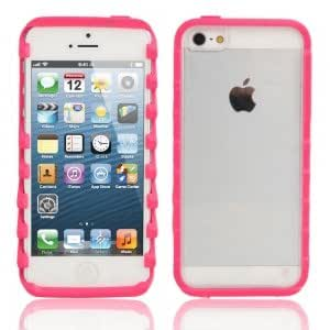 Z Style Bumper Refacing Protective Case for iPhone 5/5S Rose Red