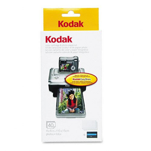 Kodak PH-40 EasyShare Printer Dock Color Cartridge and Photo Paper Refill Kit, Office Central