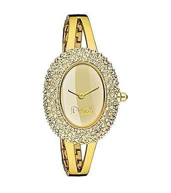 D&G Dolce&Gabbana Damen-Armbanduhr MUSIC LDY IPG STONES GOLD DIAL BRC DW0277