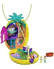 Polly Pocket GKJ64 - Polly Pocket Polly och Lila Tropicool Pineapple-lekväska och bärbar handväska
