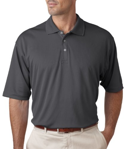 DSS Men's Short Sleeve Cool & Dry Performance Polo Uc Shirt Charcoal (2 Extra Large)