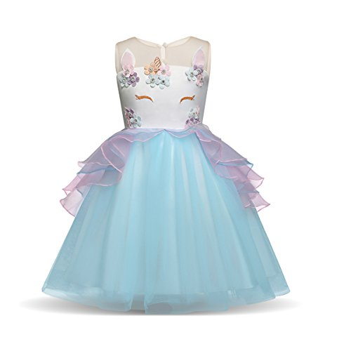 SANNYHHOOT Baby Girl's Flower Tutu Birthday Princess Dress Halloween Pageant Party Dress up