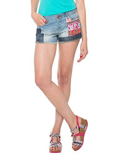 Light SHORT ETHNIC Wash Shorts Denim 5007 Blu SUPER Desigual Donna qHnvgU00P