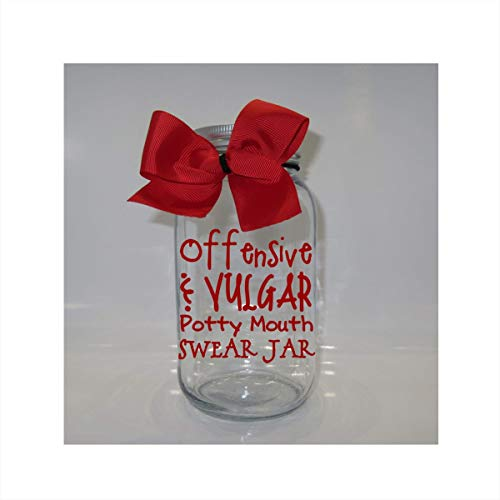 Offensive Vulgar Potty Mouth Swear Jar Mason Jar Bank - Coin Slot Lid - Available in 3 Sizes