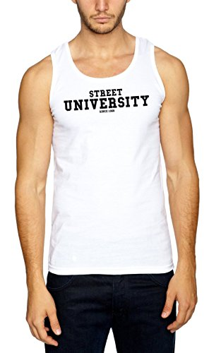 Street University Muscleshirt Bianco Certified Freak