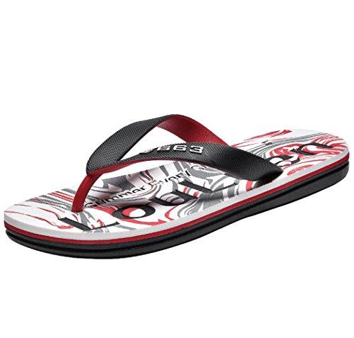 De Zapatillas Peso Forma Sandalias Sandalias En Ligero Para Verano Arco TOCCOT Antideslizantes De Zapatillas Con Playa De De Hombre De Apoyo Rojo nTxawYwqOA
