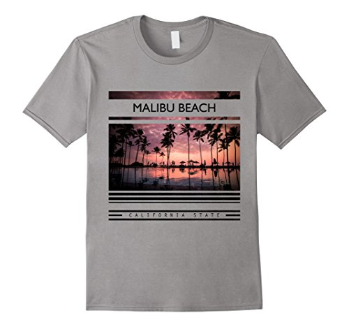 Mens Malibu beach T-Shirts, California state shirts,Malib...