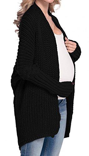Zeta Ville De Las Mujeres Embarazo Maternidad Fornido Tejer Rebeca Suéter 329C negro