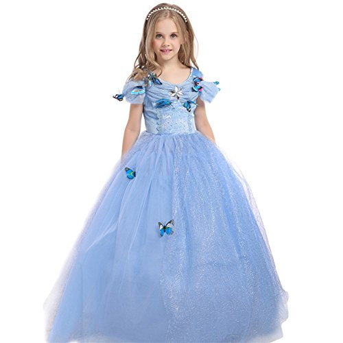 JiaDuo Girls' New Princess Dress Butterfly Party Costumes