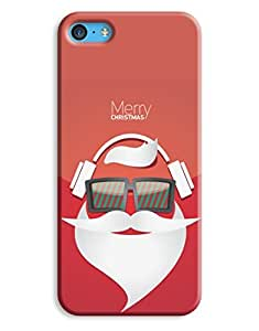 Hipster DJ Merry Christmas Case for your iPhone 5C