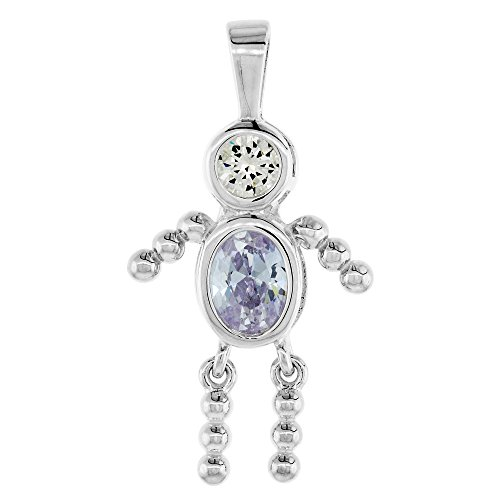 Sterling Silver Birthstone Necklace Alexandrite