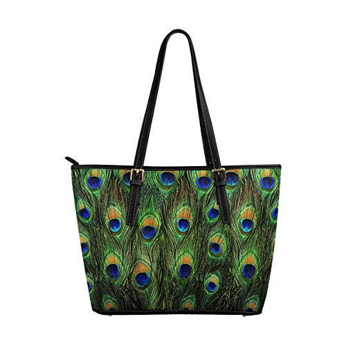 (InterestPrint Women's Work Totes Large Capacity Shoulder Bags Peacock)