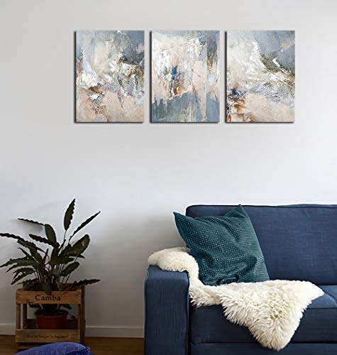 Abstract Canvas Wall Art Modern Abstract Painting Prints Blue Grey Canvas Picture Artwork Contemporary Wall Art