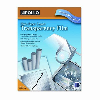 APOPP201C - Plain Paper Transparency Film for Laser Devices