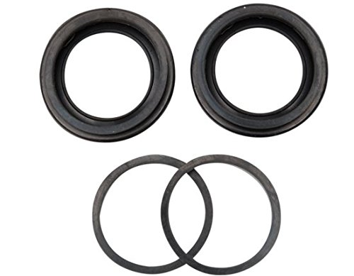 Orange Cycle Parts Dual-Disc Front Caliper Seal Kit Replaces OEM 44153-77 and 44151-77 for Harley 1977-1983 FX and XL Sportster Models