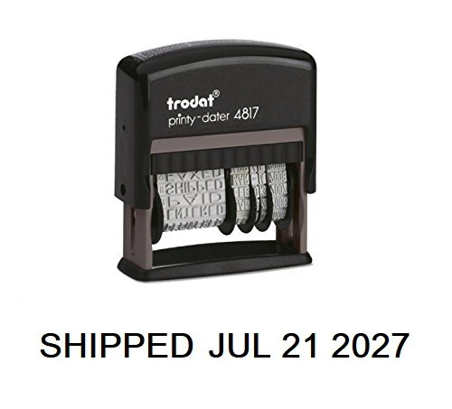 - Trodat Rotating Stock Message Phrase Dater Self-Inking Rubber Stamp - ANSWERED, CHECKED, BACK ORDERED, DELIVERED, CANCELLED, ENTERED, EMAILED, BILLED, PAID, RECEIVED, SHIPPED, FAXED