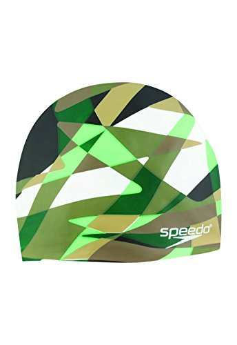 Speedo Optimism Cap, Camo/Forest Green, One Size