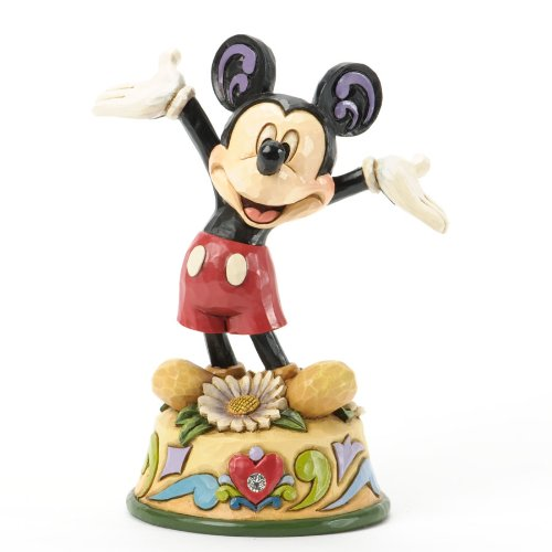 Jim Shore for Enesco Disney Traditions Mickey April Figurine, - Whitehall Jim