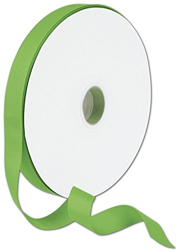 Ribbons Solid Color - Grosgrain Apple Green Ribbon, 7/8