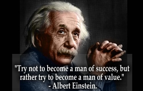 Albert Einstein Success & Value Glossy Poster Picture Photo theory physicist