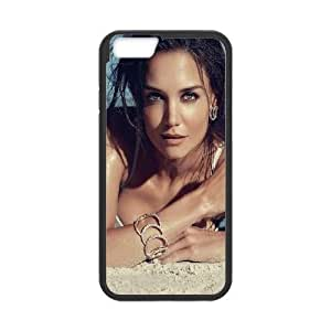 Durable Hard cover Customized TPU case Celebrities Katie Holmes iPhone 6 4.7 Inch Cell Phone Case Black