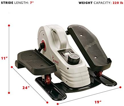 Sunny Health & Fitness Magnetic Underdesk / Standing Portable Elliptical Machine 4