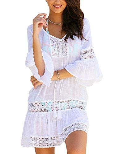 Yonala Women's Summer Beach Wear Bikini Swimsuit Cover Up Swimwear Beach Dress (Beachwear Summer)