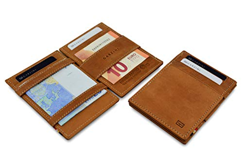 Garzini Thin Minimalist Genuine Leather Magic Wallet RFID Blocking for Men