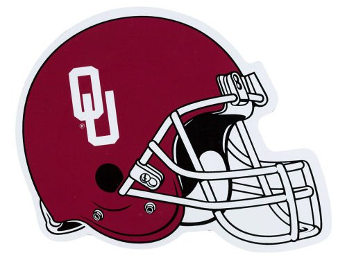 UNIVERSITY-OF-OKLAHOMA-SOONERS-STATE-MAGNET-FOOTBALL-HELMET-SDS-DESIGNS-7x6-SIZE