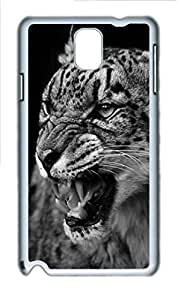 Angry Leopard Animal Polycarbonate Hard Case Cover for Samsung Galaxy Note 3 N9000 White
