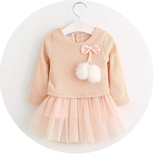 Baby Dresses Spring Baby Girls Clothes Cute Rabbit Ears Printing Princess Newborn Dress Suit for 6M-24M,Pink,PC