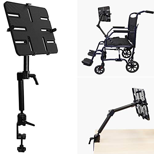 Mount-It! Tablet Pole Mount | Wheelchair Tablet Mount for iPad, Tablet or Phone | Universal Full Motion Tablet Holder…