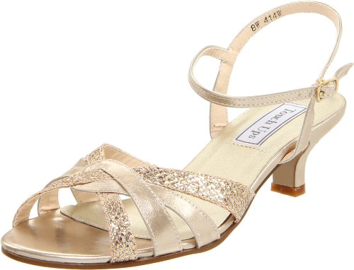 Touch Ups Women's Jane Ankle-Strap Sandal,Champagne Glitter,11 M US