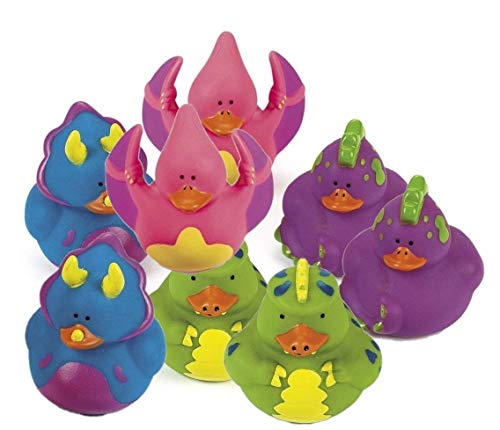 Fun Express Dinosaur Rubber Duckies Novelty (24 Pack) ()