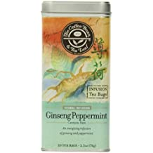 The Coffee Bean & Tea Leaf, Tea, Hand-Picked Ginseng Peppermint, 20 Count Tin, 2.5 Oz