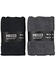 Urbany Life Microfiber Towels w/Pocket (2-Pack) Sports, Beach, Swimming, Workout, and Yoga | Quick Dry, Super Absorbent | Compact, Portable Travel
