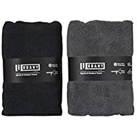 Urbany Life Microfiber Towels w/Pocket (2-Pack) Sports, Beach, Swimming, Workout, and Yoga | Quick Dry, Super Absorbent…
