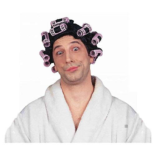 Curlers In Hair Costume (Hair in Curlers Wig Costume Adult Halloween)