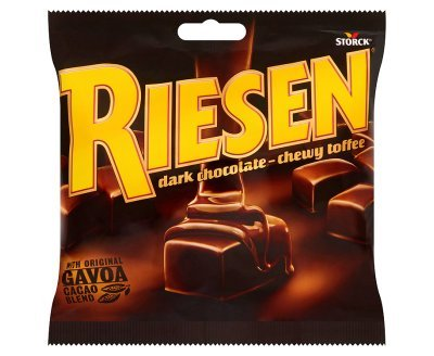Riesen Dark Chocolate - Chewy Toffee (135g x 15)