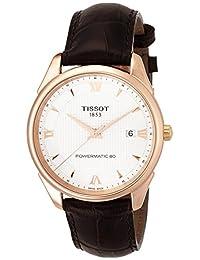 Tissot Vintage Powermatic 80 18K Gold exhibition back deployment buckle Men's watch